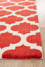 Load image into Gallery viewer, City Trellis Stylish Design Rug Red