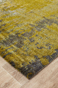 City Monet Stunning Olive Green Rug