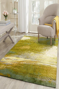 City Monet Stunning Green Rug