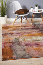 Load image into Gallery viewer, Crystal Jasmin Brushstroke Dazzling Rug Rust
