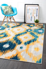 Load image into Gallery viewer, Dimensions Divinity Burst Blue Modern Rug