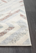 Load image into Gallery viewer, Dimensions Divinity Slant Grey Modern Runner Rug