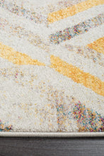 Load image into Gallery viewer, Dimensions Divinity Slant Yellow Modern Runner Rug