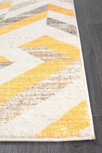 Dimensions Divinity Slant Yellow Modern Rug