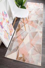 Load image into Gallery viewer, Dimensions Divinity Shatter Blush Modern Runner Rug