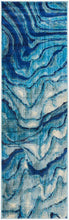 Load image into Gallery viewer, Dreamscape Waves Modern Indigo Rug