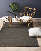 Load image into Gallery viewer, Eco Sisal Boucle Charcoal Rug