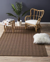 Load image into Gallery viewer, Eco Sisal Herringbone Brown Rug
