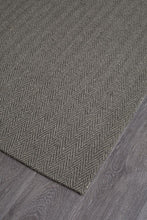 Load image into Gallery viewer, Eco Sisal Herringbone Charcoal Rug