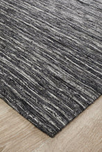 Load image into Gallery viewer, Escape Eliza Stunning Flat Woven Rug Charcoal
