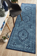 Load image into Gallery viewer, Eternal Whisper Vision Blue Runner Rug