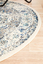 Load image into Gallery viewer, Evoke Mist White Transitional Round Rug