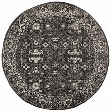 Load image into Gallery viewer, Evoke Estella Charcoal Transitional Round Rug