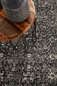 Evoke Estella Charcoal Transitional Runner Rug