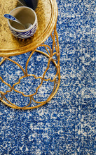 Load image into Gallery viewer, Evoke Oasis Navy Transitional Runner Rug