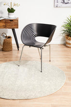 Load image into Gallery viewer, Evoke Shine Silver Transitional Round Rug