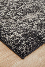 Load image into Gallery viewer, Evoke Scape Charcoal Transitional Runner Rug