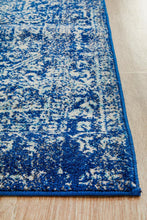 Load image into Gallery viewer, Evoke Contrast Navy Transitional Runner Rug