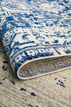 Load image into Gallery viewer, Evoke Horizon White Navy Transitional Rug