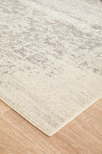 Load image into Gallery viewer, Evoke Dream White Silver Transitional Rug