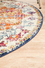 Load image into Gallery viewer, Evoke Carnival White Transitional Round Rug