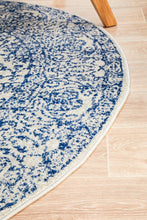 Load image into Gallery viewer, Evoke Frost Blue Transitional Round Rug