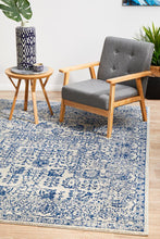 Load image into Gallery viewer, Evoke Frost Blue Transitional Rug
