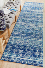Load image into Gallery viewer, Evoke Culture Blue Transitional Runner Rug