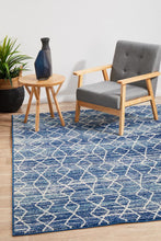 Load image into Gallery viewer, Evoke Culture Blue Transitional Rug