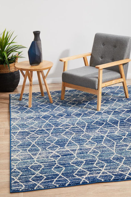 Evoke Culture Blue Transitional Rug