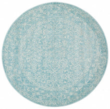 Load image into Gallery viewer, Evoke Depth Blue Transitional Round Rug