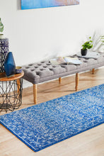 Load image into Gallery viewer, Evoke Artist Navy Transitional Runner Rug