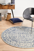 Load image into Gallery viewer, Evoke Whisper White Transitional Round Rug