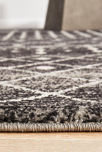 Load image into Gallery viewer, Evoke Simplicity Black Transitional Rug