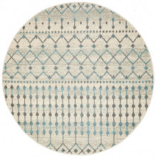 Load image into Gallery viewer, Evoke Slate White Transitional Round Rug