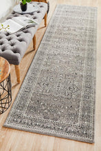 Load image into Gallery viewer, Evoke Stone Grey Transitional Runner Rug
