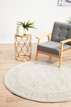 Load image into Gallery viewer, Evoke Silver Flower Transitional Round Rug