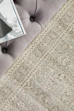 Load image into Gallery viewer, Evoke Silver Flower Transitional Runner Rug