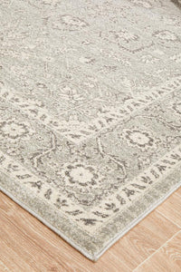 Evoke Silver Flower Transitional Rug