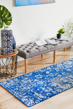 Load image into Gallery viewer, Evoke Donna Navy Transitional Runner Rug