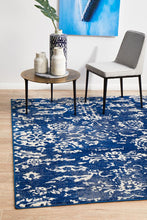 Load image into Gallery viewer, Evoke Donna Navy Transitional Rug