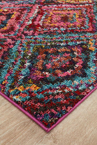 Gemini Modern 503 Multi Coloured Runner Rug