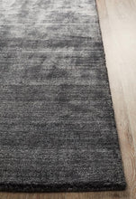 Load image into Gallery viewer, Havana Wool Silky Viscose Charcoal Rug