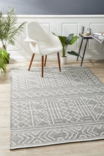 Load image into Gallery viewer, Arya Stitch Woven Rug Silver Grey