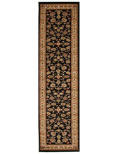 Load image into Gallery viewer, Istanbul Collection Traditional Floral Pattern Black Rug