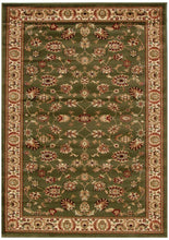 Load image into Gallery viewer, Istanbul Collection Traditional Floral Pattern Green Rug