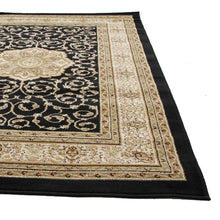 Load image into Gallery viewer, Istanbul Medallion Classic Pattern Runner Rug Black