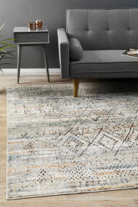 Jezebel Fluid Mornings Modern Grey Rug