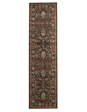 Load image into Gallery viewer, Jewel Nain Design 804 Brown Red Rug