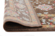 Load image into Gallery viewer, Jewel Nain Design 804 Brown Red Runner Rug